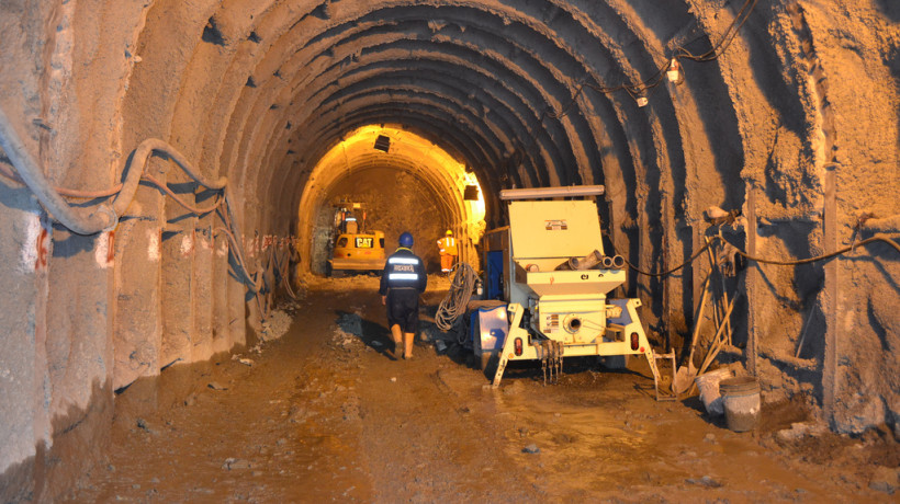 The Higabra Valley Tunnel at Continental Gold's Buriticá goldmine in Antioquia.