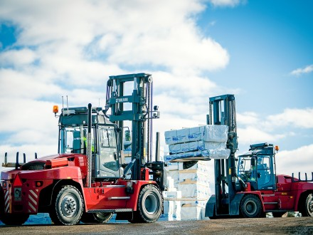 Kalmar DCG140 Forklift Trucks - photo courtesy of Kalmar Global
