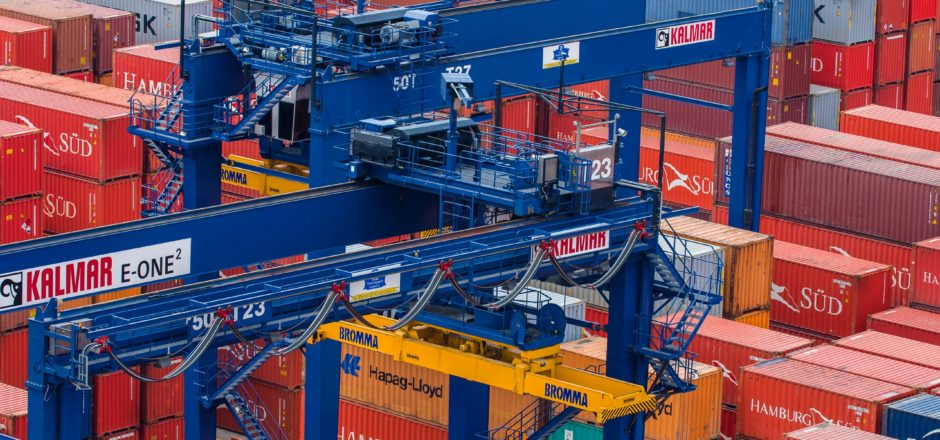 Above photo: Kalmar gantry cranes operating at the SPRC Container Terminal in Cartagena Columbia (courtesy of Kalmar)