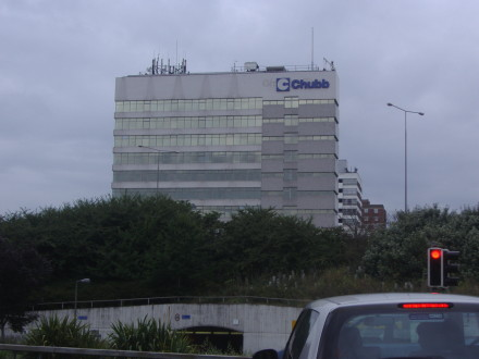 Photo of Chubb's Sunbury Cross, UK offices copyright David Howard and licensed for reuse under this Creative Commons License.