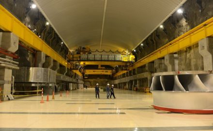 Inside Isagen's Sogamoso Hydroelectric Facility -(photo courtesy Isagen)