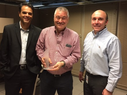 From left: André Almeída, Unisys commercial industry leader; Antonio José Pérez, Director of services and IT infrastructure for EPM, and Juan Villegas, Unisys client executive for Central Latin America, South, and Andes. Photo courtesy of Unisys.