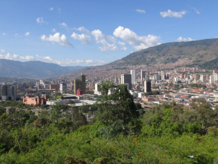 Medellín Colombia landscape city center