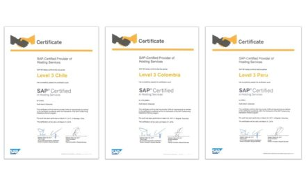 SAP Hosting Partner Certificates (Credit: Level 3 Communications, Corp)