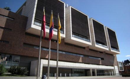 University of the Andes - The Edifício Mario Laserna at the Universidad de los Andes in Bogotá, Colombia. (Credit: Leandro Neumann Ciuffo / Universidad de los Andes)