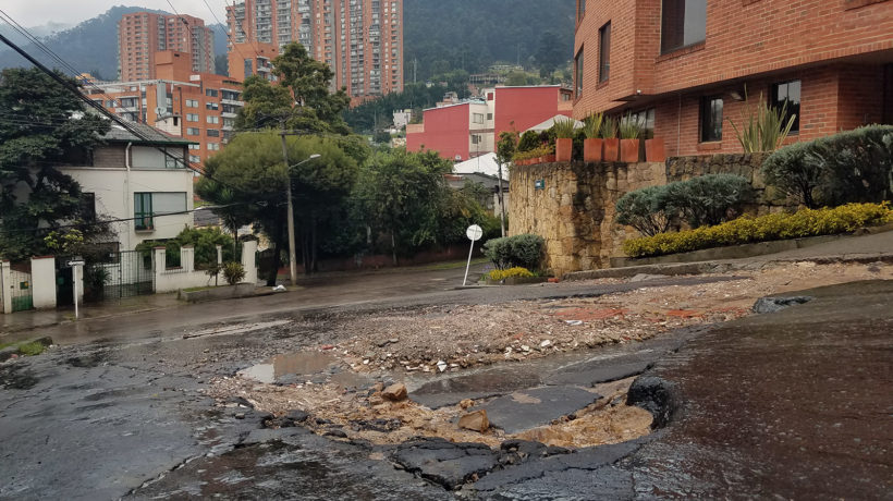 Bogota Pothole (Photo credit: Jared Wade)