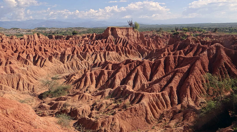 Photo: The remarkable landscape of Tatacoa Desert in Colombia. (Credit: Karolynaroca)