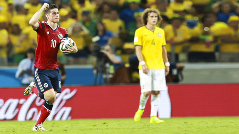 James Rodríguez, superstar midfielder for the Colombian national football team, at the 2014 FIFA World Cup in Brazil. (Photo credit: Danilo Borges/copa2014.gov)