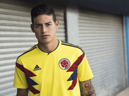 adidas new kit colombia unveiled by James Rodriguez (Photo: @jamesrodriguez/Twitter)