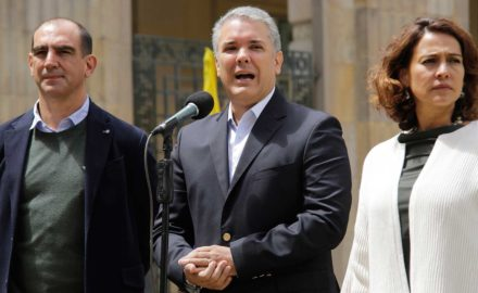 Photo: On the morning after the failed referendum, Colombian President Iván Duque told the nation