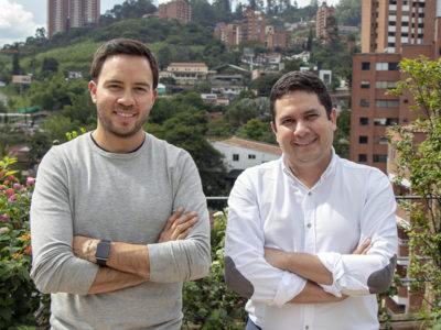 Photo: Felipe Llano and Esteban Velasco, co-founders of Sempli, in Medellín. (Photo credit: Sempli)