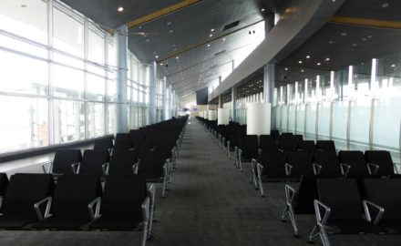 A terminal in Bogotá's El Dorado International Airport sits empty. Photo credit Loren Moss 2014