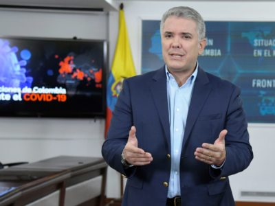 Colombia's President Ivan Duque implements measures against the Coronavirus Covid-19 Pandemic. Photo: César Carrión - Presidencia de la República