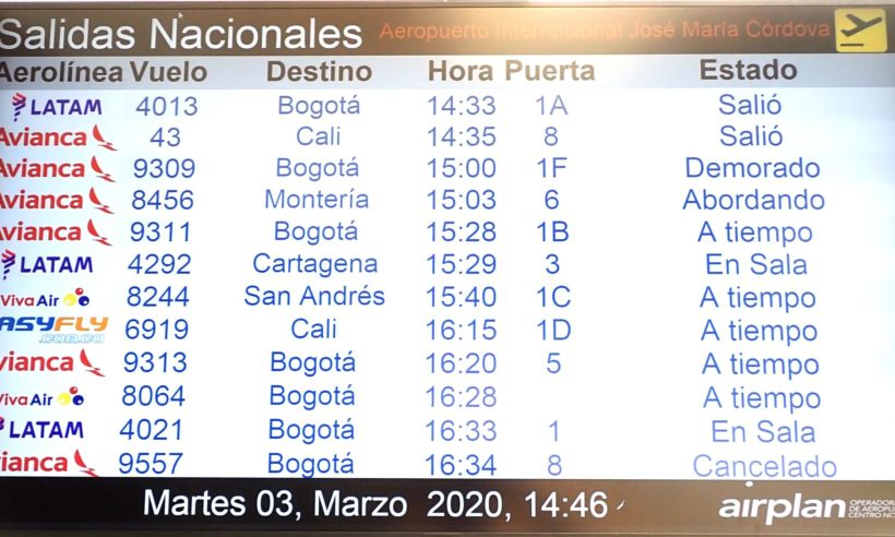 Avianca flights delayed and canceled at MDE