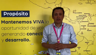 Viva Air's Director of Airports & Control Center Alex Cipagauta