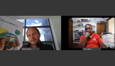 Khiron CEO Álvaro Torres & Finance Colombia Executive Editor Loren Moss on a Webex call