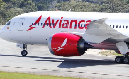Avianca Holdings Boing 787 in Rionegro Fitch Ratings liquidity