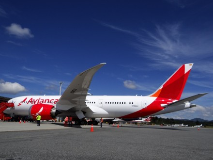 One of Avianca new 787s at Medellin's Airport