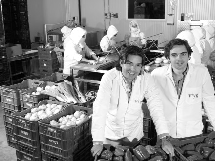 Vive Agro founding brothers Pablo Arbelaez (left), and Juan Felipe Arbelaez (right)